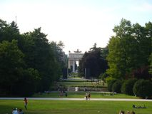 The Parck with the Arch royalty free stock photography