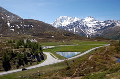 Simplon Pass landscape Royalty Free Stock Photography