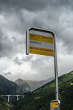 SIMPLON PASS, SWITZERLAND/ EUROPE - SEPTEMBER 16: Bus stop at Sc Royalty Free Stock Photography
