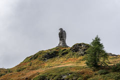 SIMPLON PASS, SWITZERLAND/ EUROPE - SEPTEMBER 16: Statue of an E Royalty Free Stock Image
