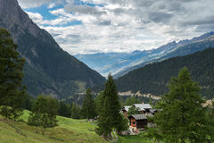 SIMPLON PASS, SWITZERLAND/ EUROPE - SEPTEMBER 16: View from the Royalty Free Stock Photography