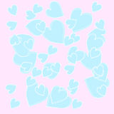 Simply beautiful abstract pattern with blue heart, background. Simply beautiful abstract pattern with blue heart Vector  can be useful like a logo,emblem,tag Stock Images