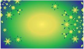 Simply beautiful spring and summer green vector mandala background vector illustration