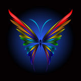 Simply butterfly. Vector illustration of icon simply butterfly on black background Stock Photography