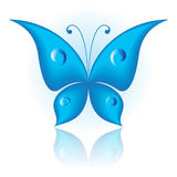 Simply butterfly. Vector illustration of blue icon simply butterfly Stock Photos