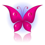 Simply butterfly. Vector illustration of magenta icon simply butterfly Stock Photos