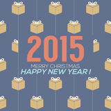 Simply and Clean 2015 New Year Card. Vector Illustration Royalty Free Illustration