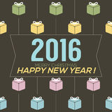 Simply and Clean 2016 New Year Card. Stock Photography