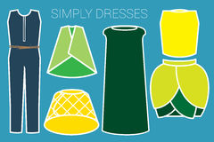 SIMPLY DRESSES Royalty Free Stock Images