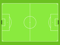 Simply football field top view vector Stock Photography