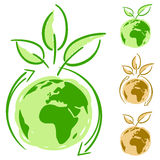 Simply green concept. Isolated on white vector illustration