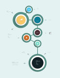 Simply infographic step by step template Stock Photo
