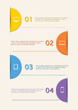Simply infographic step by step template Royalty Free Stock Photography