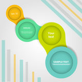 Simply infographic step by step vector template Royalty Free Stock Photos