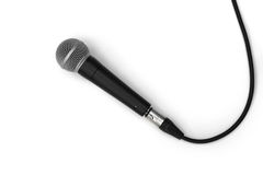 Simply Microphone on white background Royalty Free Stock Images