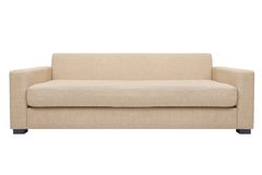 Simply modern couch. Simply modern beige couch  isolated white Stock Images