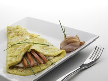 Simply Omelet Royalty Free Stock Images
