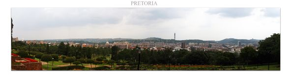 Simply Pretoria in South Africa. Town overview royalty free stock photo