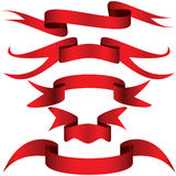 Simply red ribbon Stock Photo