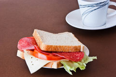 Simply sandwich Royalty Free Stock Photo