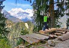 Simply saw  forester in Nepal Royalty Free Stock Photography