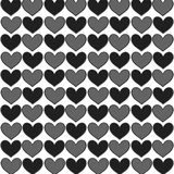 Simply seamless big hearts Stock Images