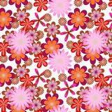 Simply seamless pink flower background Royalty Free Stock Image