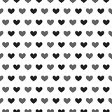 Simply seamless small hearts. Stock Photos