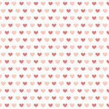 Simply seamless small hearts on white Royalty Free Stock Photos