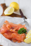 Simply smoked salmon Royalty Free Stock Image