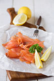 Simply smoked salmon Royalty Free Stock Photos