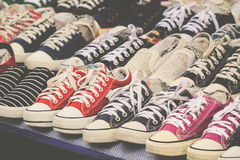 Simply sneaker at second hand market Stock Image