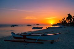 A simply stunning sunset over Malapascua Island, Cebu, Philippines Stock Images