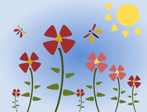Simply summer. Simple illustration of a garden in summer royalty free illustration