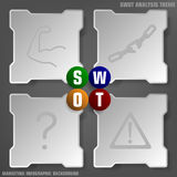 Simply SWOT analysis background theme Stock Photos
