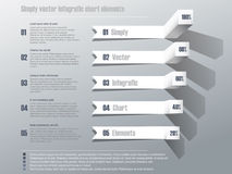Simply vector infografic chart Stock Images