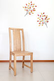 Simply wood chair Royalty Free Stock Image