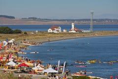 Simposio del kajak del mare della costa ovest Fotografia Stock Libera da Diritti