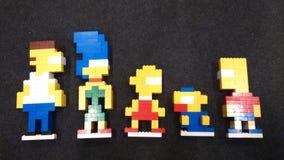 Simpson-Familie stockbilder