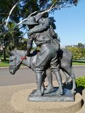Simpson and his donkey in Canberra Stock Image
