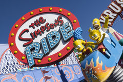 The simpson ride. The Simpson's ride at Universal studio california USA Stock Images