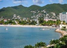 Simpson zatoka na St Maarten Zdjęcia Royalty Free