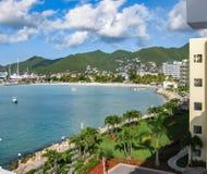 Simpson zatoka na St Maarten Fotografia Royalty Free