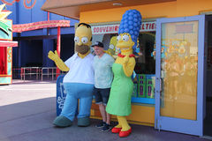Simpsons bei Universal Studios Hollywood Stockbilder