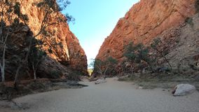 Simpsons Gap in dry riverbed