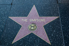 The Simpsons Hollywood Star Royalty Free Stock Images