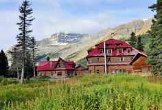 Simpsons Num-ti-jah lodge along the Icefields Parkway near Lake Louise in the Canadian Rockies Royalty Free Stock Photography