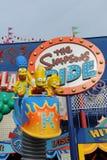 Езда Simpsons на всеобщих студиях в Orlando Стоковые Изображения RF