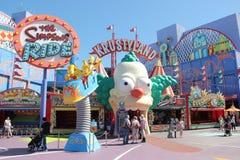 Simpsons przejażdżka przy universal studio Hollywood Zdjęcie Stock