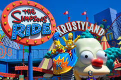 The Simpsons Ride. At Universal Studios Hollywood Royalty Free Stock Photography